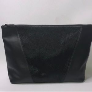 Vince Modern V Calf Hair And Leather pouchette